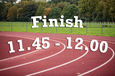 Finish 11:45 - 12:00