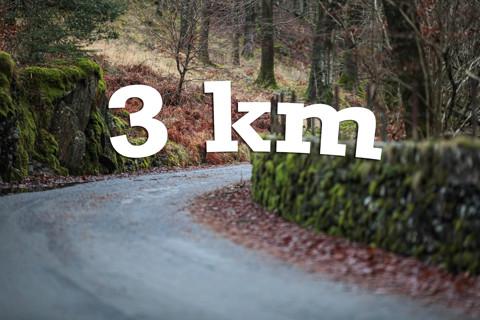 At 3 km