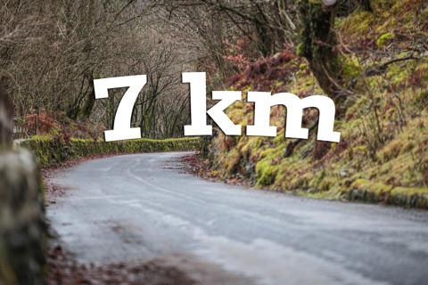At 7 km